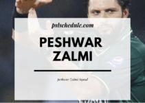 Peshwar Zalmi Squad 2020