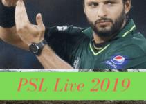 psl 2019 live