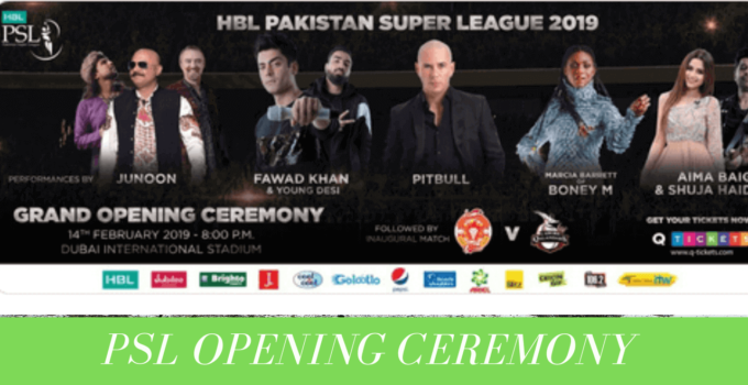 psl 2019 opening ceremony