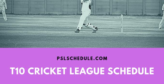 t10 cricket 2019 schedule