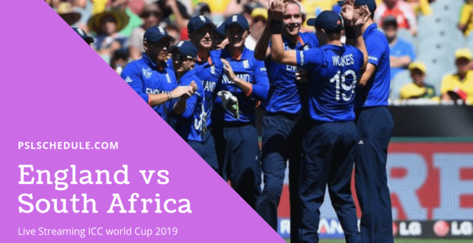 England Vs South Africa Live Streaming 2019 ICC World Cup